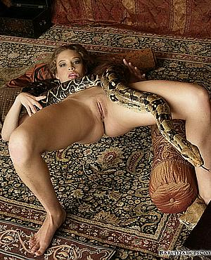 A snake Women sex having with