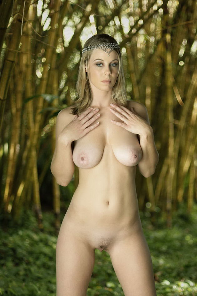 naked tits in forest