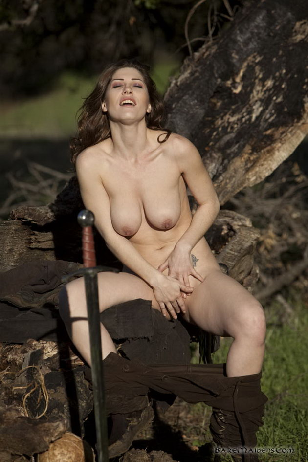 Natural hanging tits