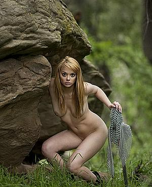 The Forest Fantasy Babe Alone In