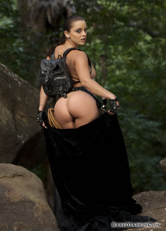 Liza as lara croft naked