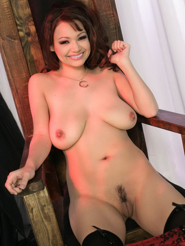 Nude hanging breasts