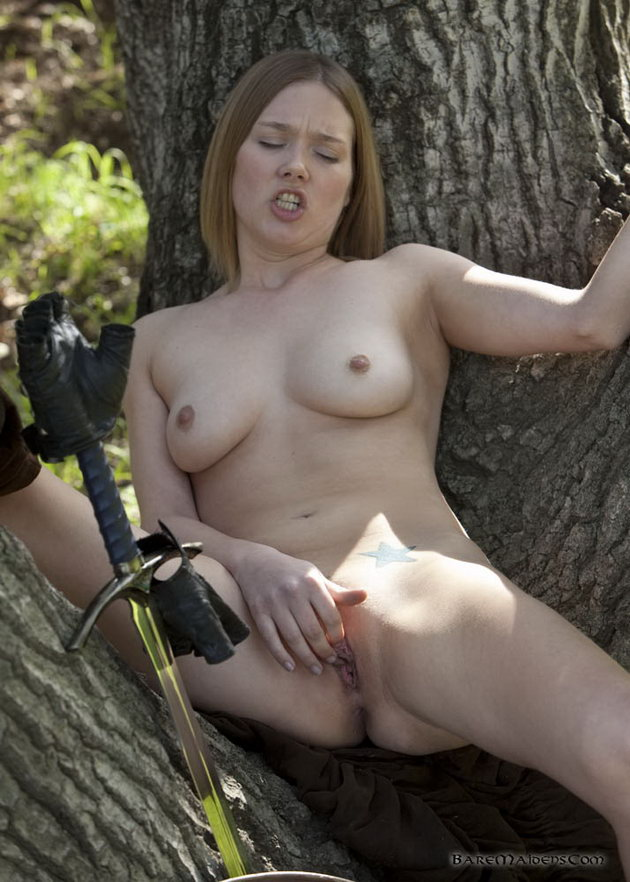 Naked cunt in the forest
