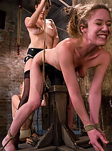 Two hot doms gang up on Jade Marx and force her to cum with electricity!!!