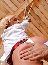 Dr. Subjects Schoolgirl Kiara Lord Into Kink In Secret Room