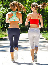 Theres nothing sweeter than two girls that are gorgeous love happening jogs together. Gina Gerson and her lovely girlfriend that is new Baby venture  out for the run in their sexy, skimpy workout garments. These girls are searching hot as fuck--and its n