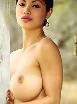 Francine Dee in Chinese Cowgirl with Large Breasts