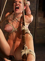 Massive boobs, a category 5 suspensionand skull fucking. Brutal bondage, devastating orgasms. Art!