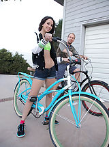 A quick bike ride around the block gets Belle Knox in the mood for some other cardio activities, once back at the house the exercise turns into a great fuck!