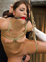 New faced Adriana Chechik overloaded with slavery and cunt play till she is deliriously cumming all throughout the set.
