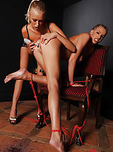 Mistress Teena Lipoldino has her way with Danielle Maye