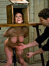 Service slut trained for table service and cock sucking under the table