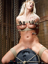 Gorgeous nubile Emily Austin hardcore fucking in snug line restraints as she learns to beg at the arms of sadistic servant teacher Tommy Pistol.