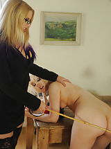 Miss Drogan plus Miss Taylor Kinky Students in Garter Belt Stockings plus Stiletto Heels