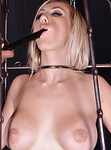 Chamber of Chains: Submissive Blonde Double Penetrated