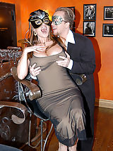 Content of Jaime Brooks - My husband and I attended a masquerade party. It was great dressing up and wearing masks. The best part was having a sexy stranger join us downstairs for a little crazed, masked sex adventure...
