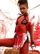 Dont fuck with Skin Diamond, its either her ass, or a Masacre!