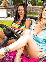 Ariella Ferrera & Julia Ann are taking a break from their husbands and taking a girls only vacation. They decide to have some fun away from hubby and pick up a random dude to fulfill their naughty needs.