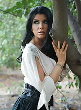 Romi Rain cant seem to escape, shes running through the woods, but the night watchman is on her trail. By using his snatch eating abilities, and cock in her lips, she finally gives in.