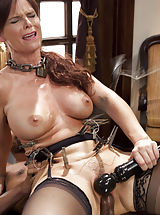 Gorgeous MILF Syren de Mer in domestic anal training. Stress place to make her training collar, hard face screwing, anal dick riding