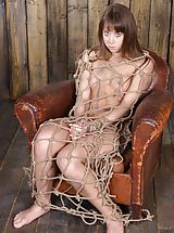 Taissia Shanti trussed up in ropes